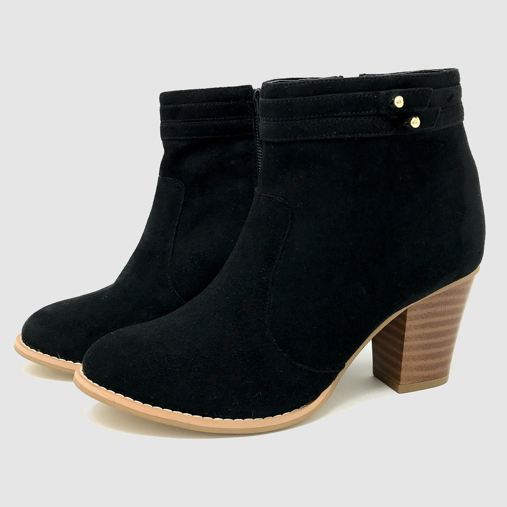 Bloc Ankle Boots in Black - Taramay Design