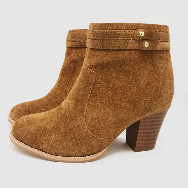 Bloc Ankle Boots in Hazelnut - Taramay Design