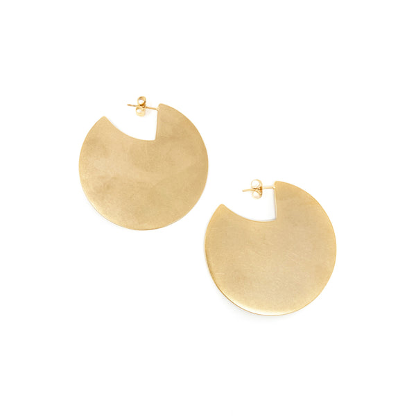 Cutout Disc Earrings