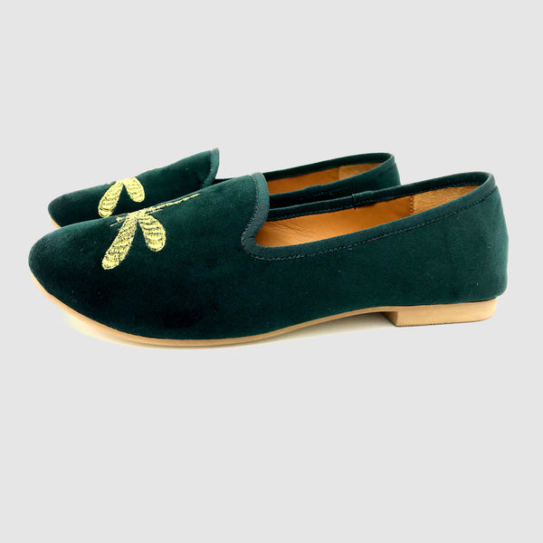 Dragonfly Loafers in Emerald
