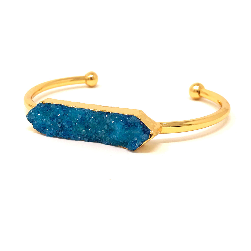 Druzy Cuff in Blue - Taramay Design