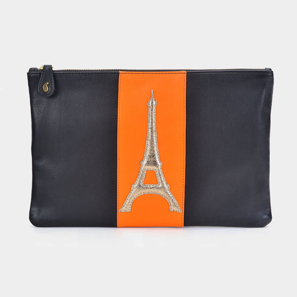 Eiffel Clutch in Gold - Taramay Design
