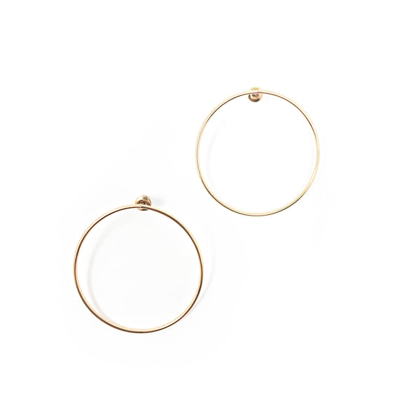Front Hoop Earrings - Taramay Design