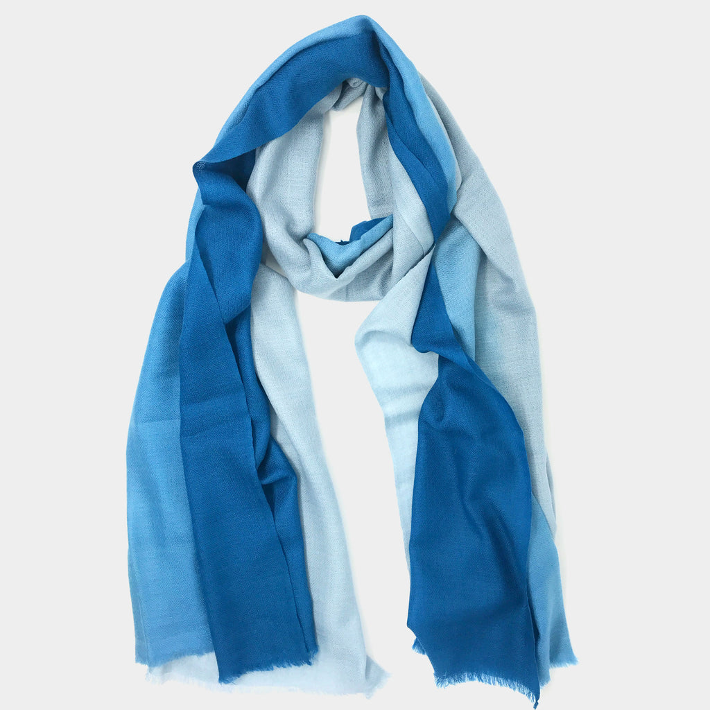 Gradient Scarf in Blue/Grey - Taramay Design