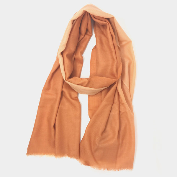 Gradient Scarf in Shell/Peach - Taramay Design