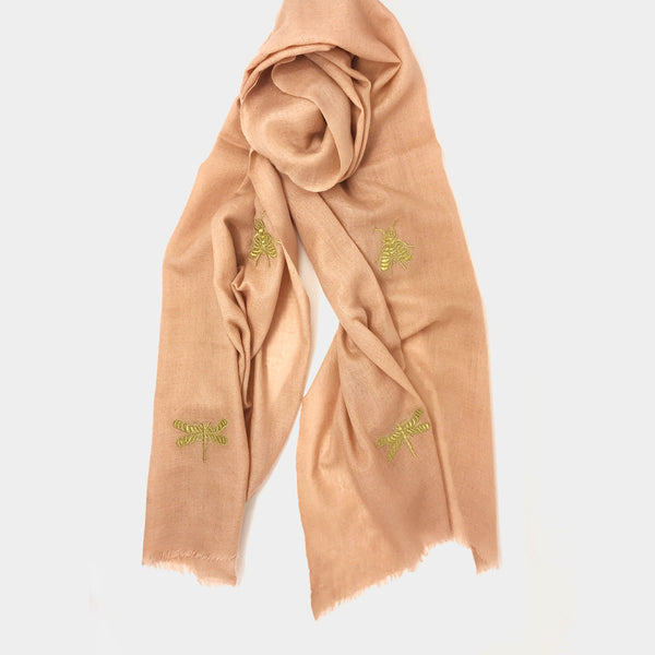 Insect Scarf in Blush - Taramay Design