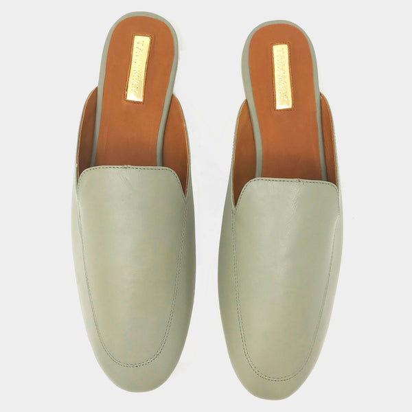 Loafer Slides in Grey - Taramay Design