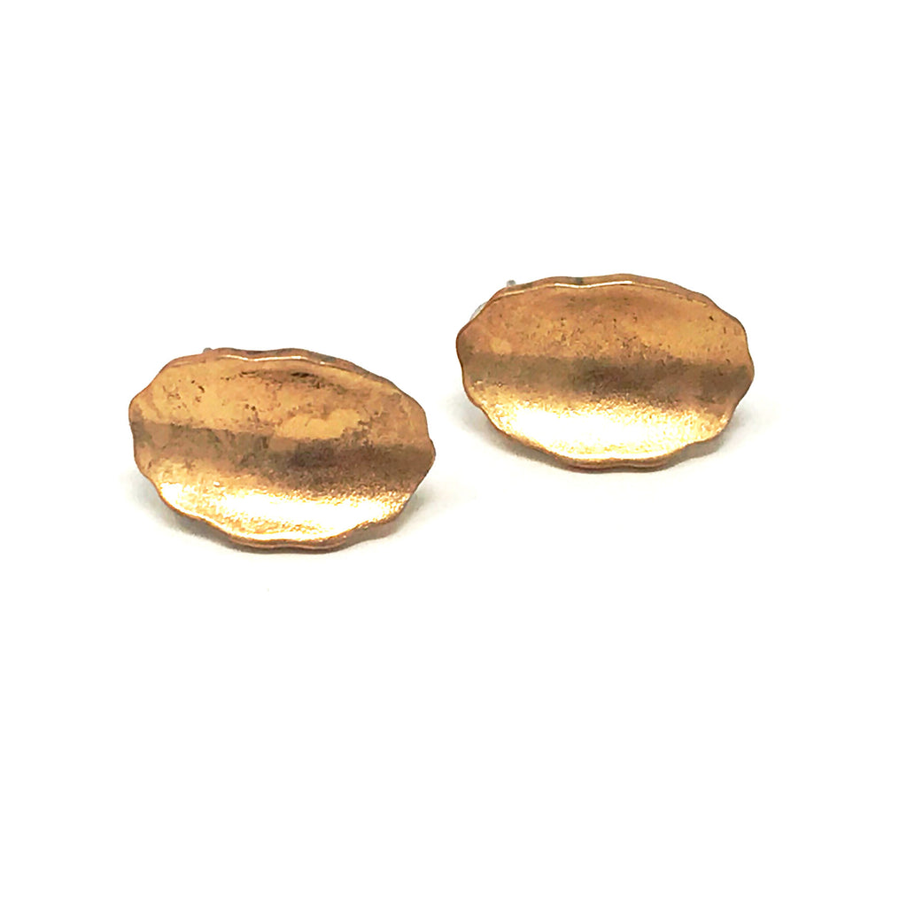 Pebble Earrings in Gold