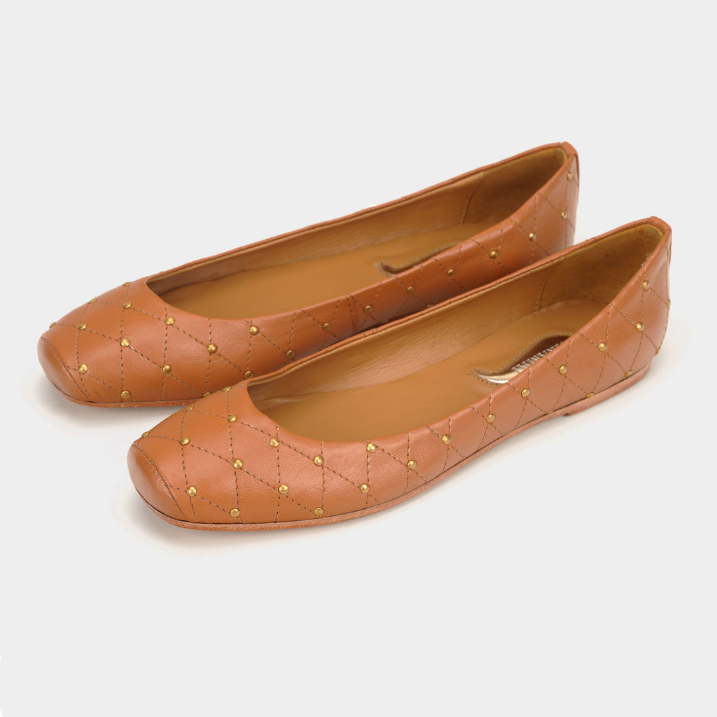 Aria Quilted Flats in Biscuit - Taramay Design