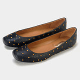 Aria Quilted Flats in Black - Taramay Design