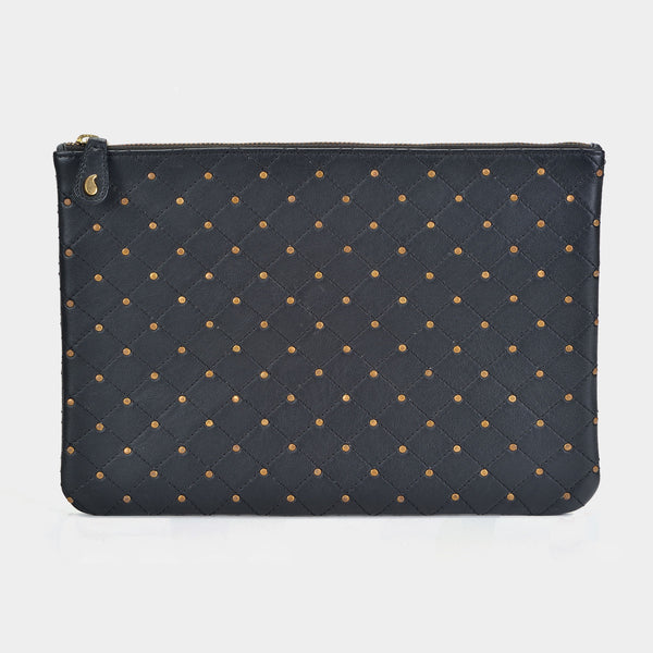 Quilted Clutch in Black - Taramay Design