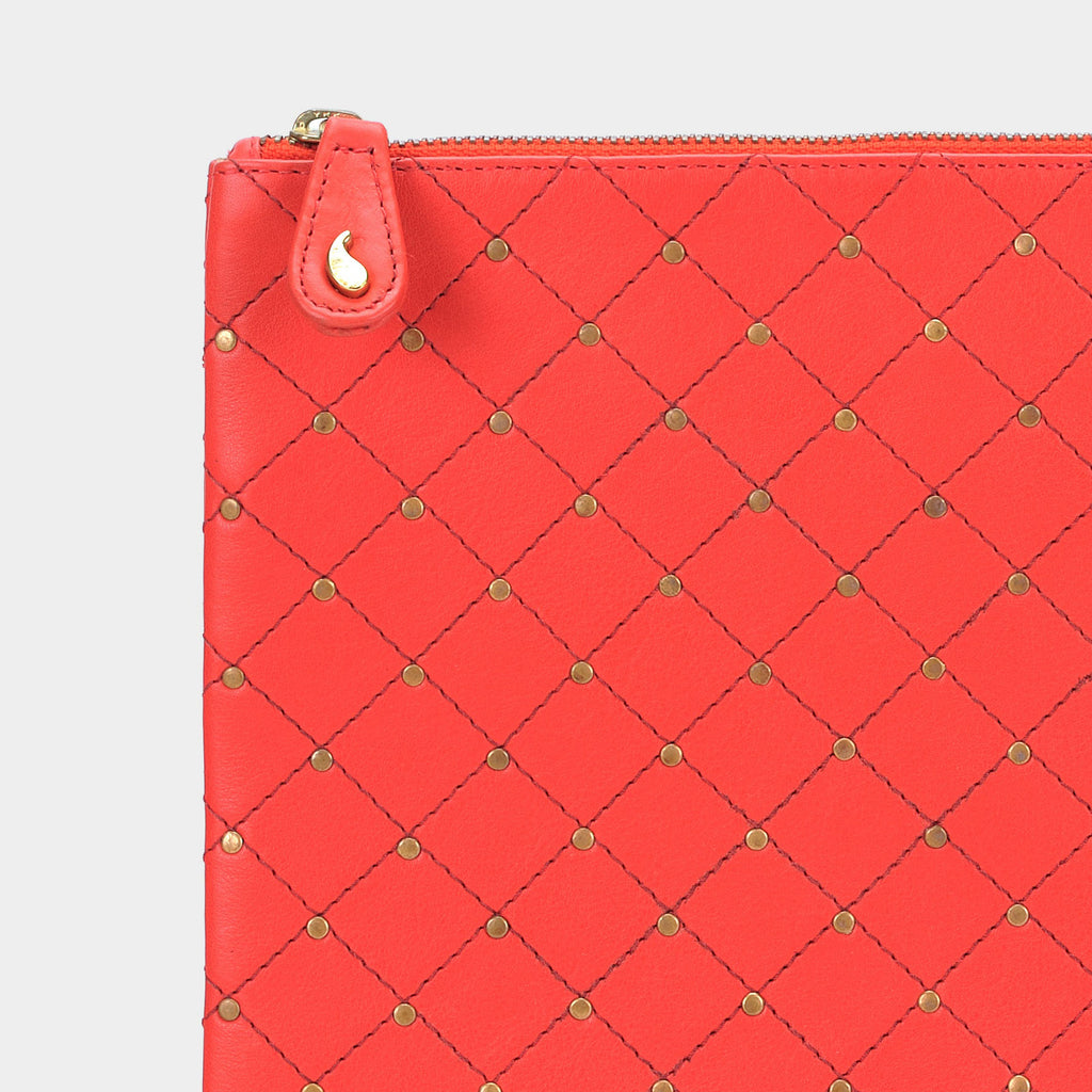 Quilted Clutch in Rouge - Taramay Design