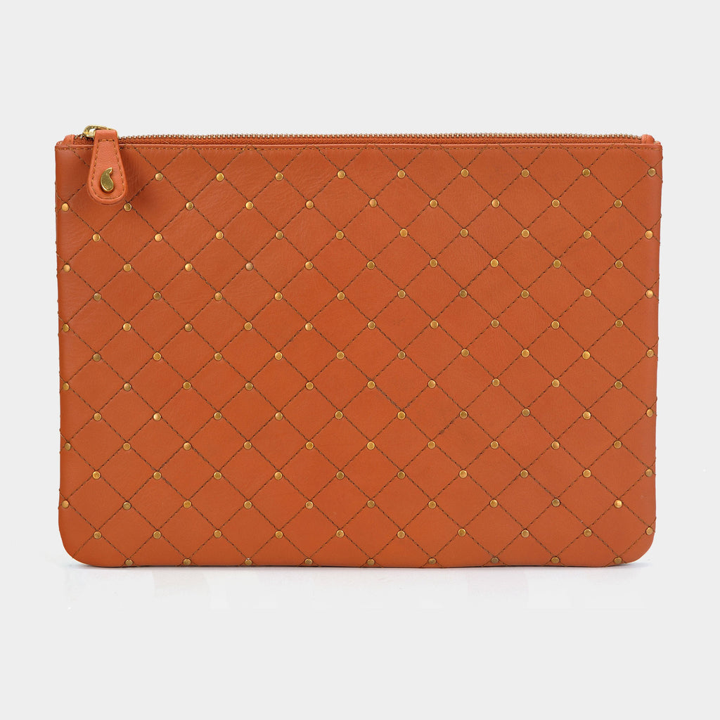 Quilted Clutch in Tan - Taramay Design