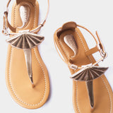 Seashell Sandals in Gold - Taramay Design