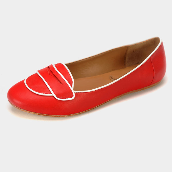 Soho Loafers in Red - Taramay Design
