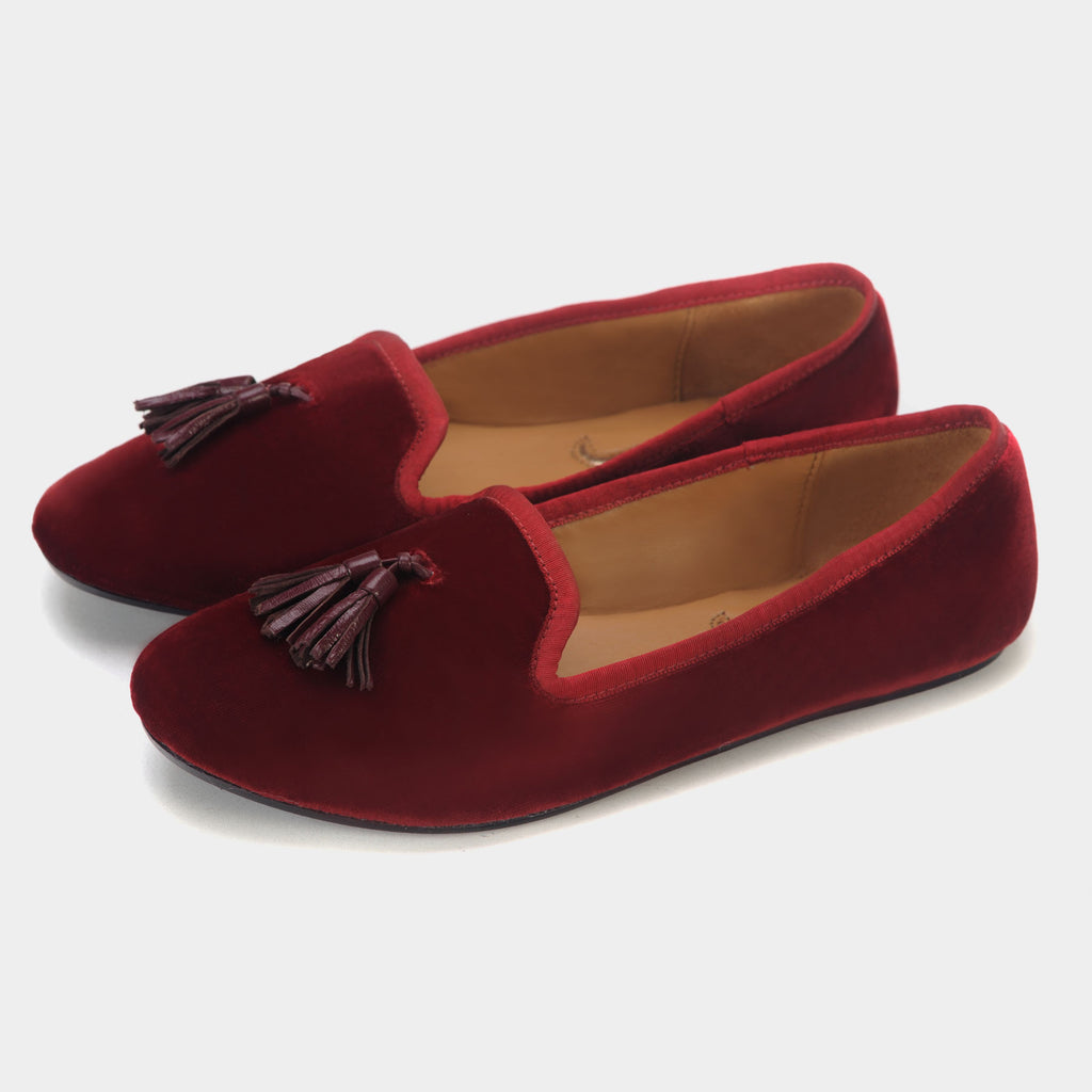 Tassel Loafers in Garnet - Taramay Design