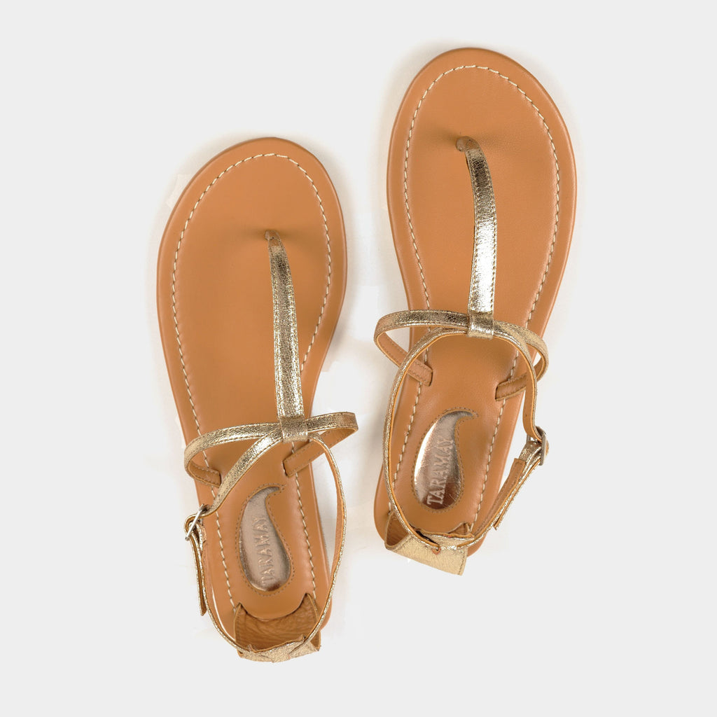 Trio Sandals in Gold - Taramay Design