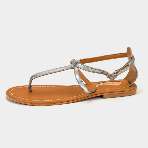 Trio Sandals in Silver - Taramay Design