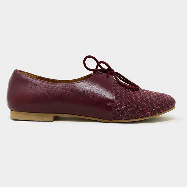 Woven Oxfords in Burgundy - Taramay Design