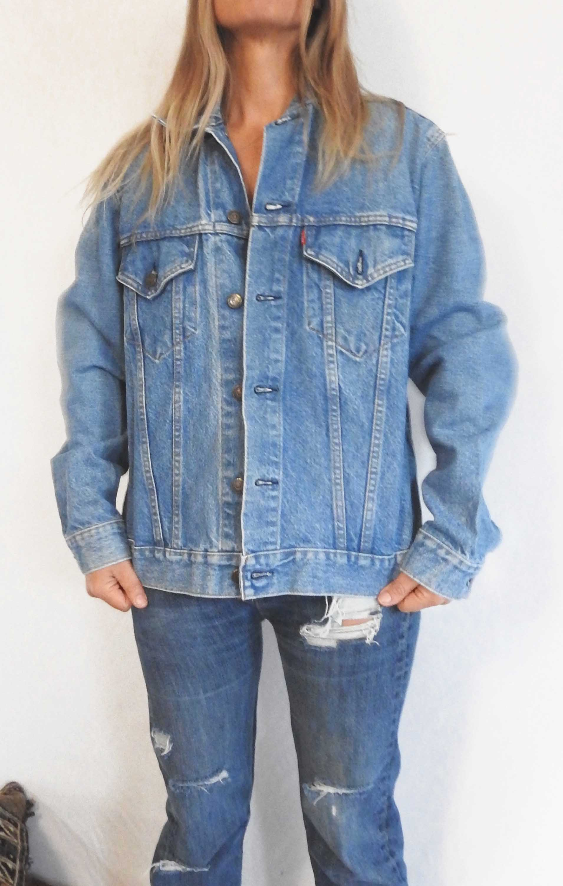 Denim Jacket 1 VINTAGE LEVIS MEN'S DENIM JACKET