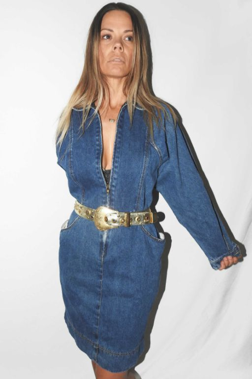 VINTAGE DENIM ZIP DRESS