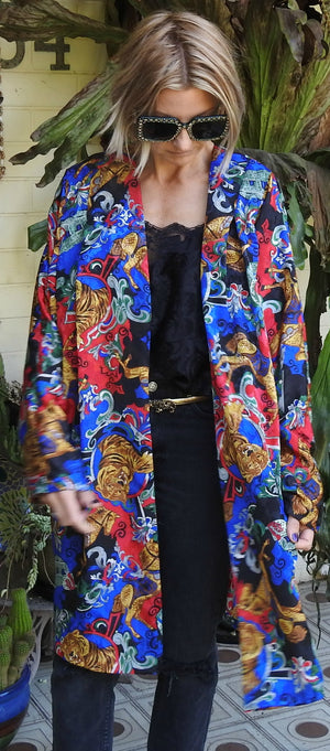 Vintage Silk Tiger Duster