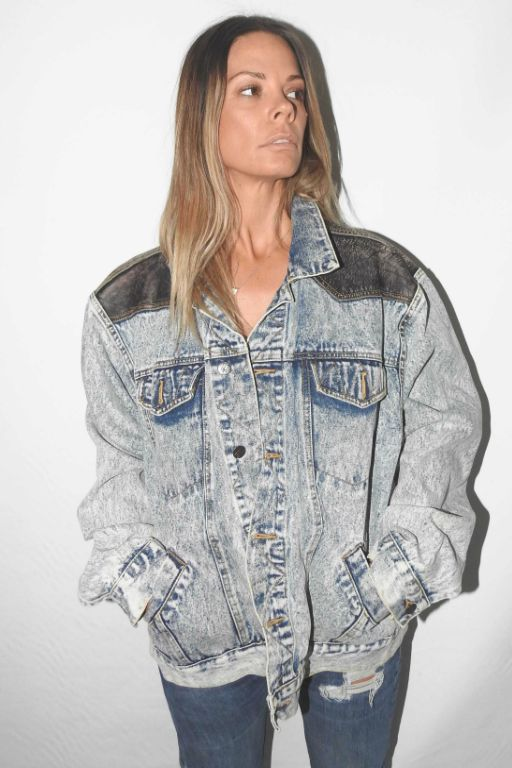Denim Jacket 3  VINTAGE ACID WASH / LEATHER JACKET