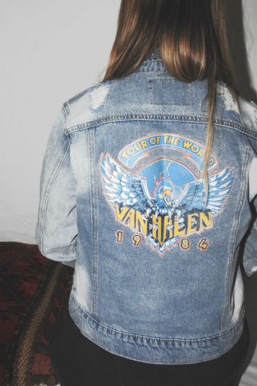 Denim Jacket 5  VAN HALEN TOUR OF THE WORLD 1984 DENIM JACKET