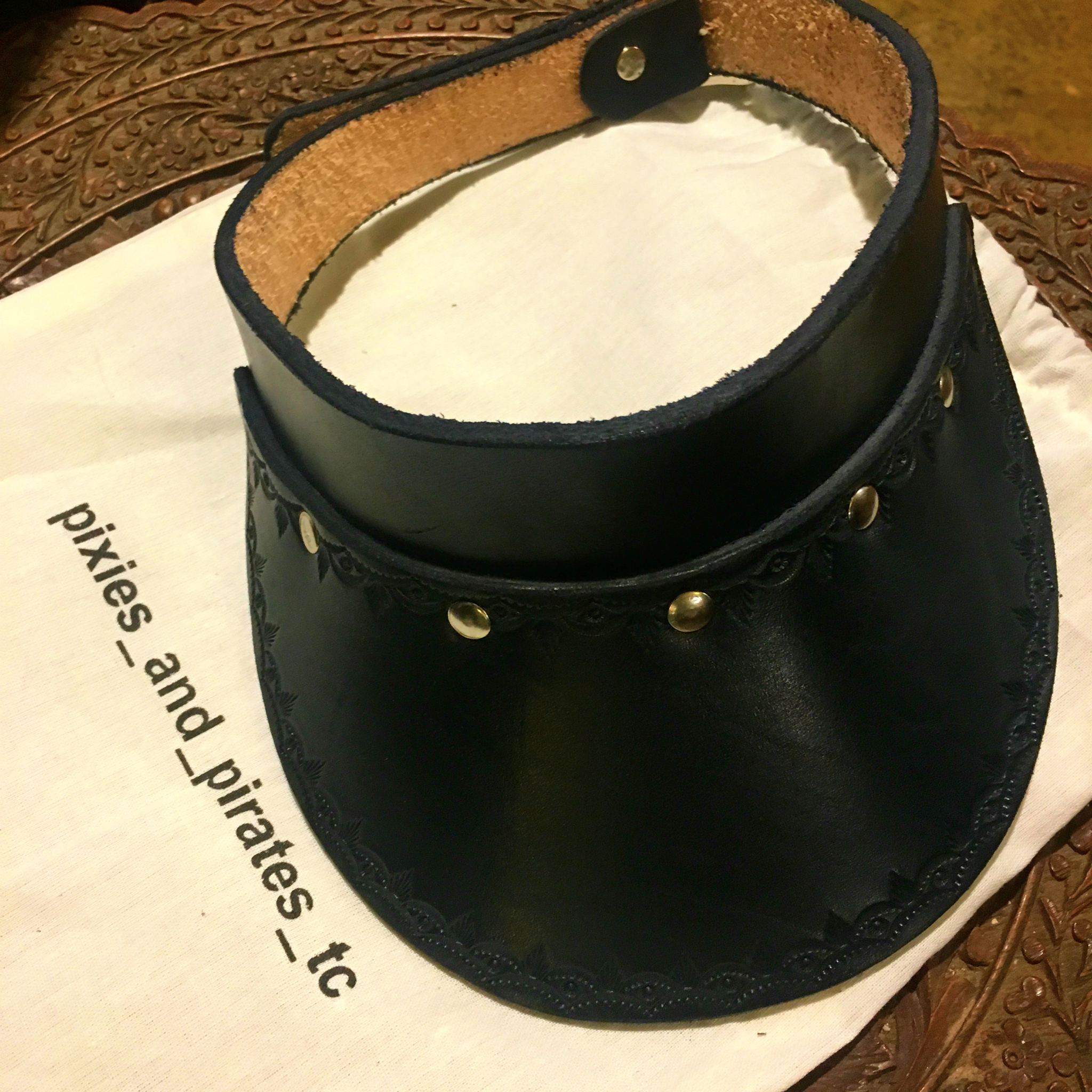 Pixies Leather Bohemian Visor