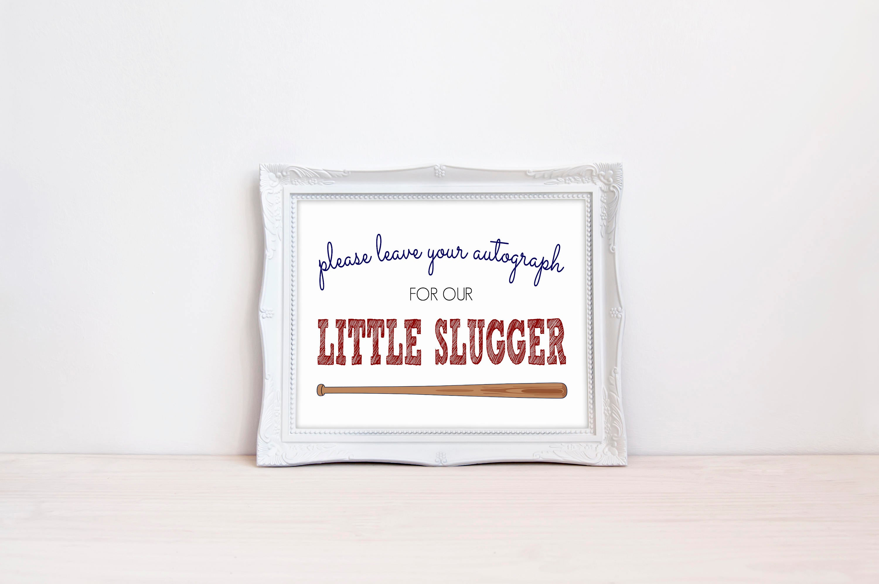 "Leave Your Autograph 8""x10"" Printable Sign"