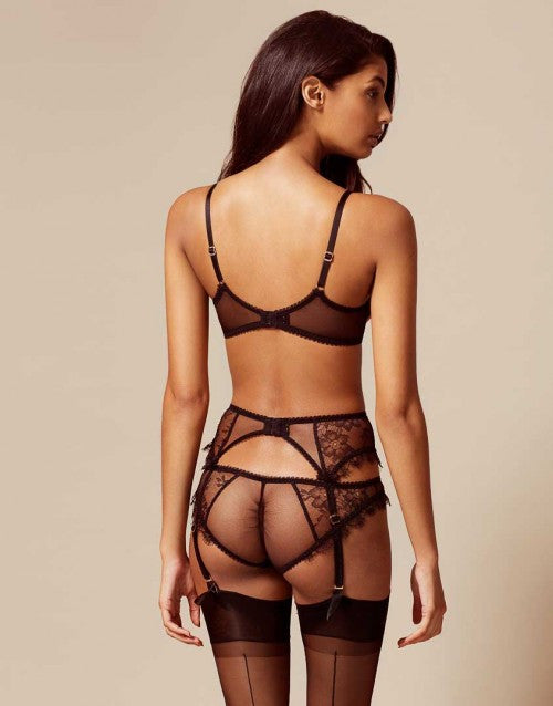 Saffi Suspender Black And Nude