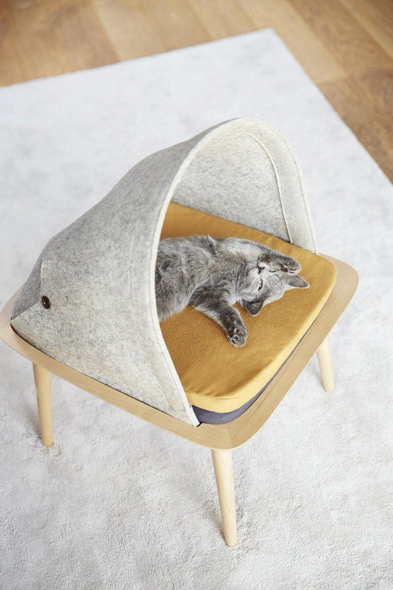 Indigo Cat Bed - Tuft and Paw