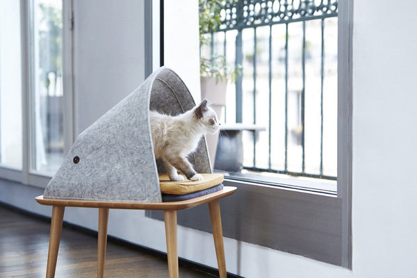 Indigo Cat Bed - Tuft + Paw