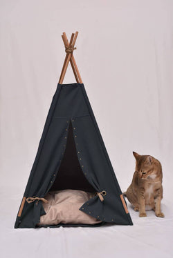 Back to Black Cat Teepee - Tuft + Paw
