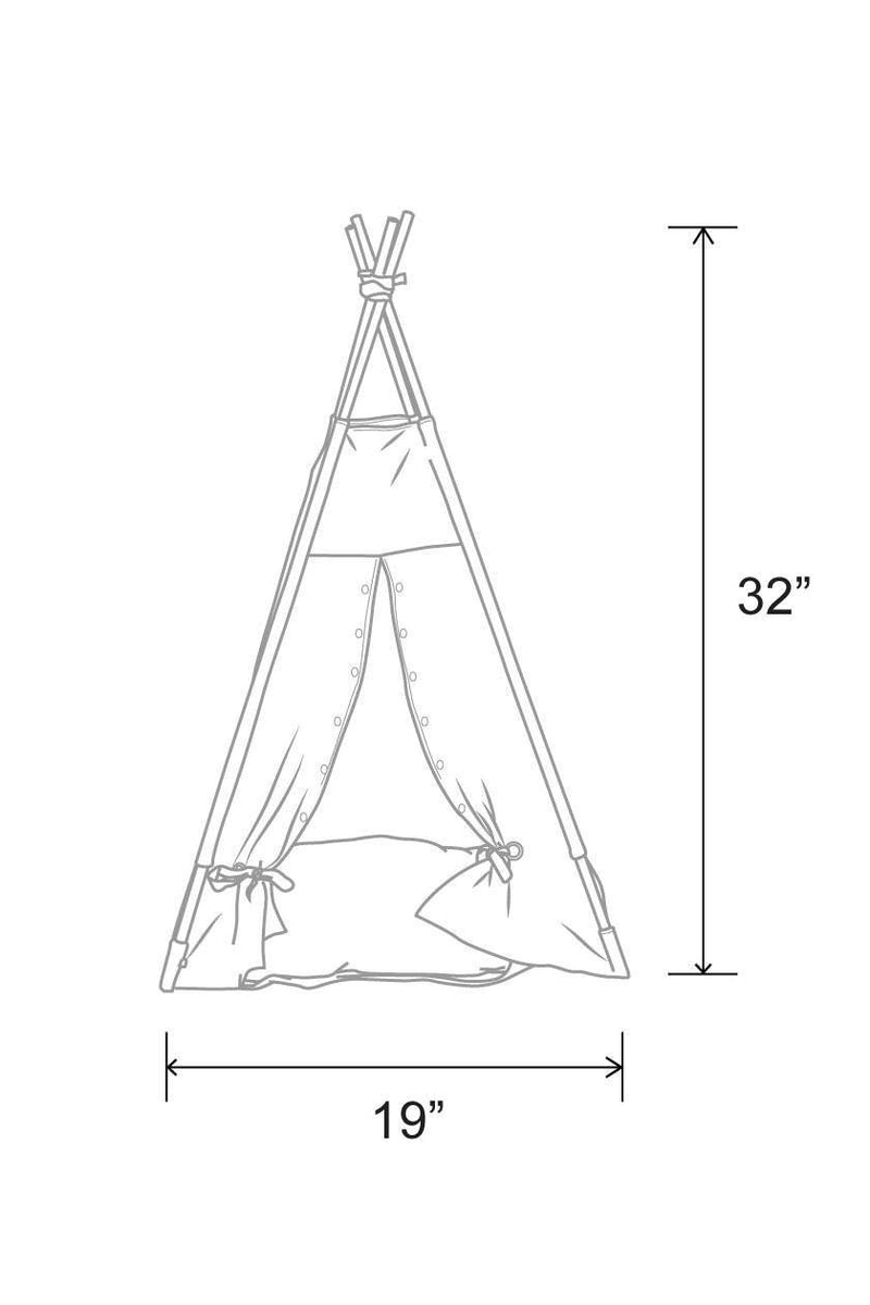 Smoke & Tobacco Cat Teepee - Tuft + Paw