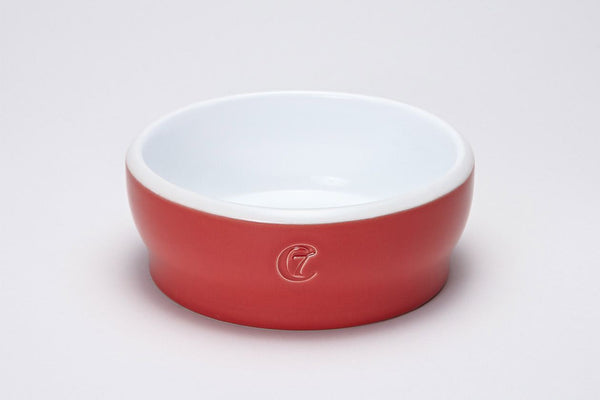 Jamie Red Cat Dish Cat feeders - Tuft and Paw