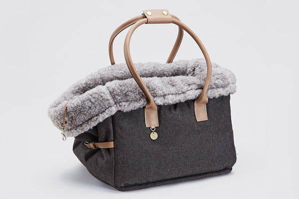 Heather Brown Carrier  - Tuft + Paw