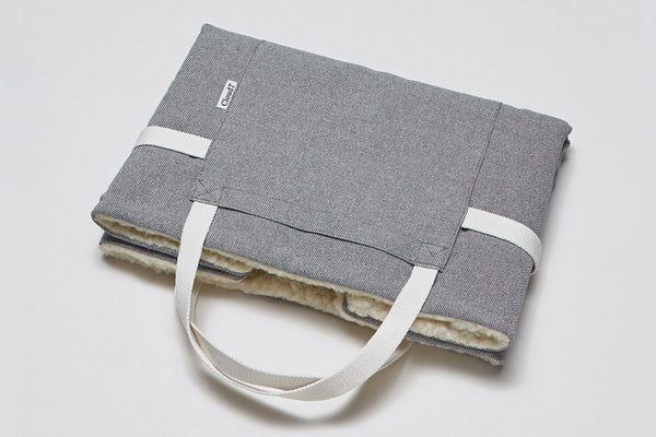 Tweed Gray Travel Bed  - Tuft + Paw