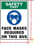 Face Mask Required On This Bus Decal Parts