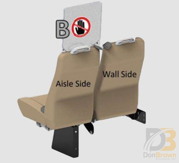 Freedman Seat Sneeze Guards Single Curbside Aisle Kit B Bus Parts