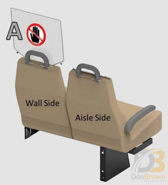 Freedman Seat Sneeze Guards Single Wall Side Kit