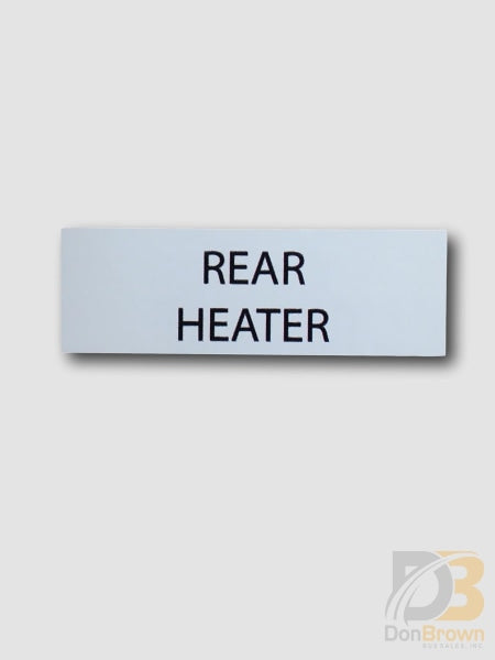 Ih-Rh Rear Heater Switch Decal Bus Parts