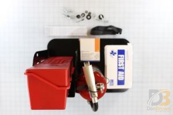 Kit Safety Equipment And Tower Fire Extinguiser / Triangle Flare First Aid Body Fluid Kits Shipout
