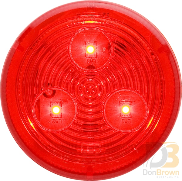 Light 2 1/2 Red Round Clearance Marker Interior 08-008-043 Mcl57Rb Bus Parts