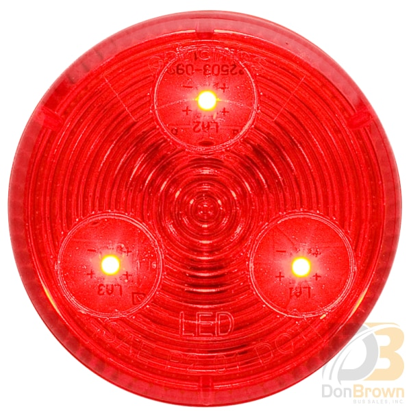 Marker Light Red 2 Led 08-008-021 Mcl55Rb Bus Parts