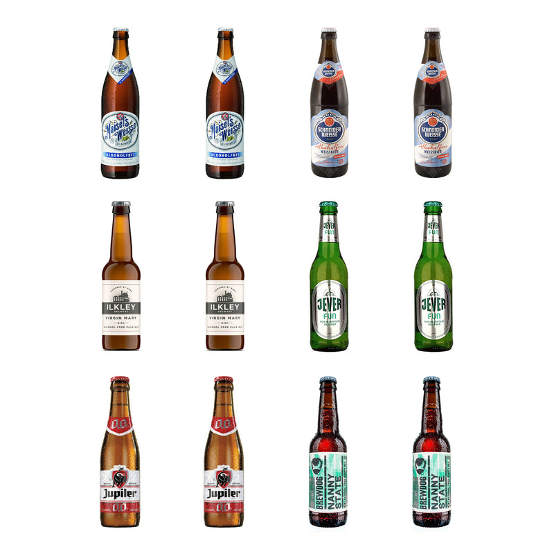 Alcohol Free Beer Selection 12 Bottles
