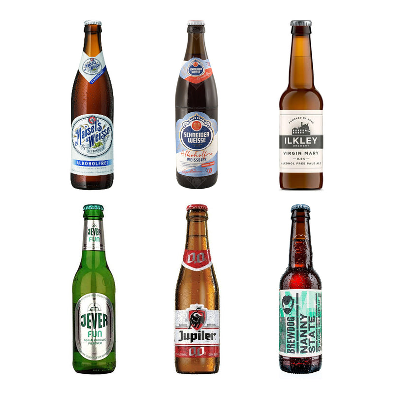 Alcohol Free Beer Selection 6 Bottles