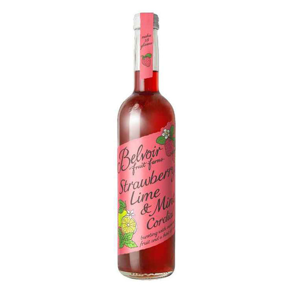 Belvoir Strawberry & Lime Cordial (500ml) Glass Bottle