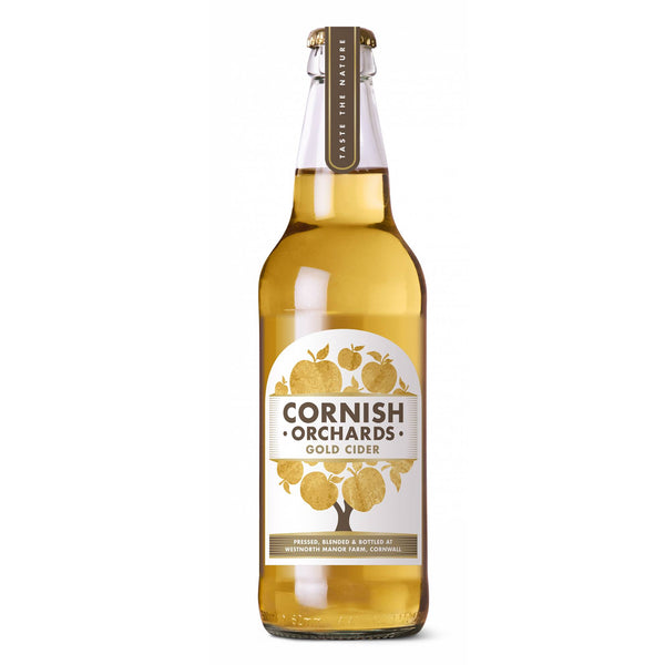 Cornish Orchards Gold Cider Glass Bottle 50cl