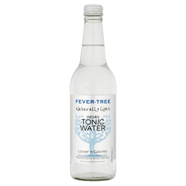 Fever Tree Naturally Light Indian Tonic Water 500ml Glass Bottle